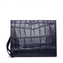 gete Import crocodile skin wrist bag business man bag large capacity multi-card holding 30 years gulf crocodile belly clutch bag cestbeau crocodile belly men wallet man clutch bag holds a bag of genuine leather multi card business wallet