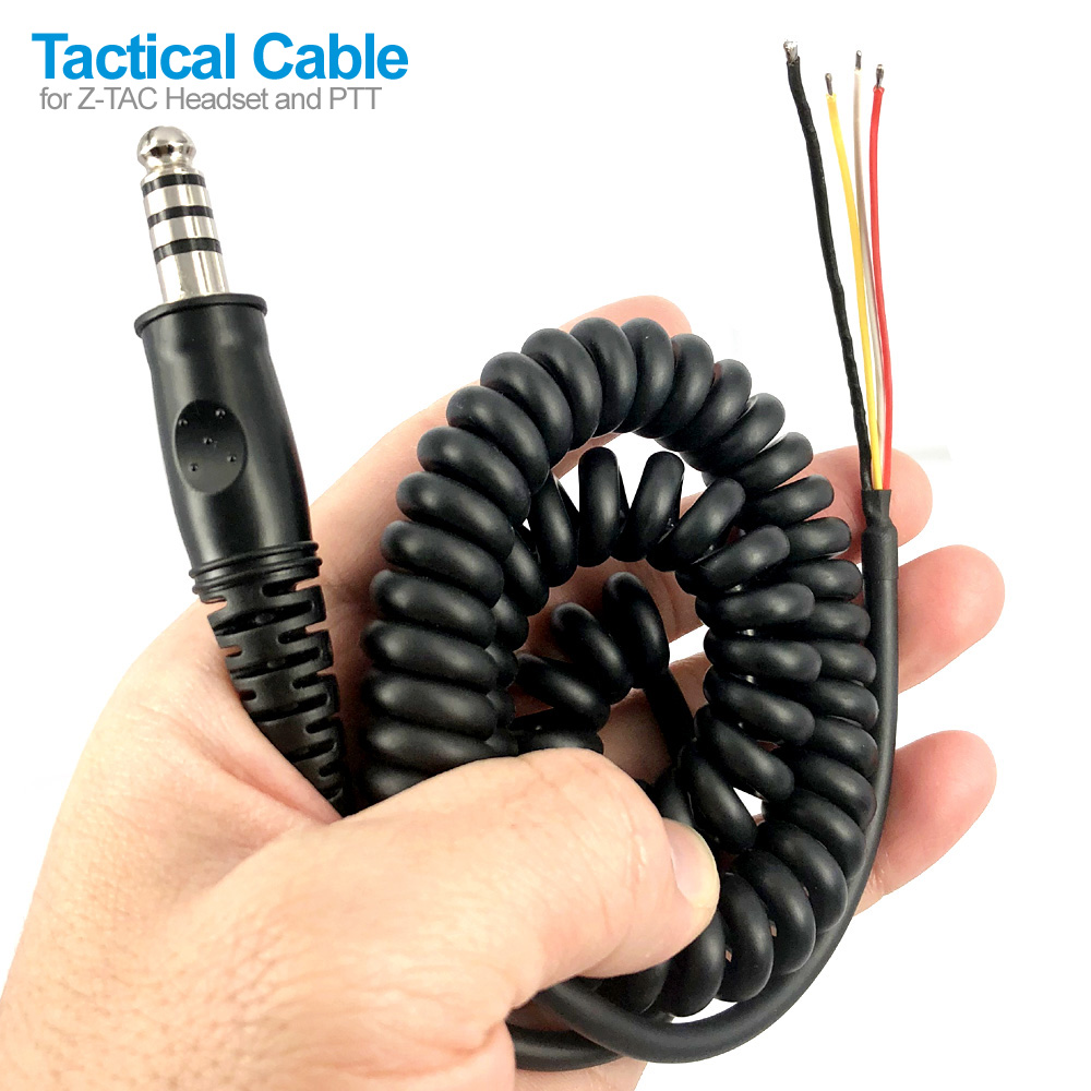 Nato Z Tactical Cable For Z-TAC Headset And PTT Walkie Talkie Two Way Radio Communication Accessories
