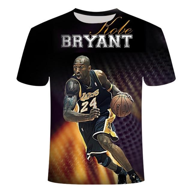 3D Printed Kobe Bryant T-shirt 10