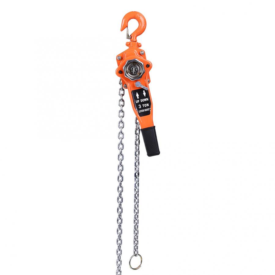 3t Lifting Cranes Chain Block Hoist Ratchet Hoist Ratchet Lever Pulley Lifting 3meters Chain Hoist Cable Domestic Delivery