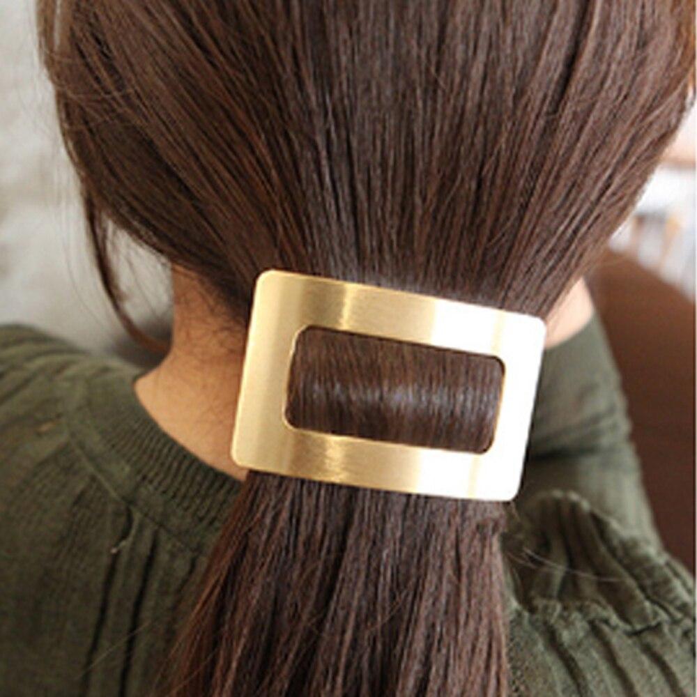1PC Metall Snap Haar Clips Für Frauen Haarnadel Koreanische Haarspangen Haar Haarspange Pferdeschwanz-halter Mädchen Haar Zubehör Grips