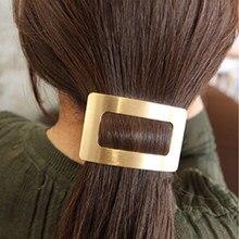 1 adet Metal baskı saç klipleri kadınlar için firkete kore tokalar saç tokası at kuyruğu tutucu kızlar saç aksesuarları Hairgrips
