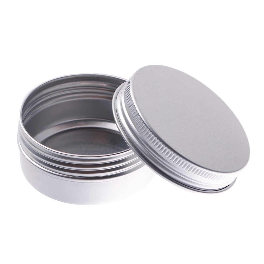 Os frascos de armazenamento cosméticos 5/10/15/30/50ml da parte superior do parafuso recarregáveis do recipiente da garrafa do potenciômetro vazio do armazenamento pequeno da caixa da lata mini