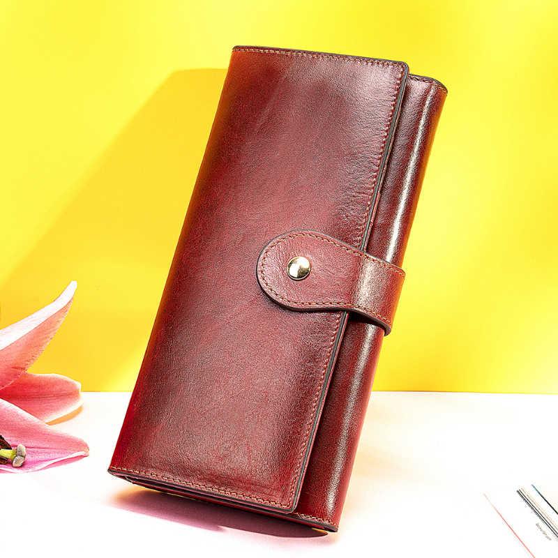 Luufan borla moda moeda bolsa clipe trifolds mulher carteira longa grande capacidade carteira de viagem preto dourado longo carteira feminina