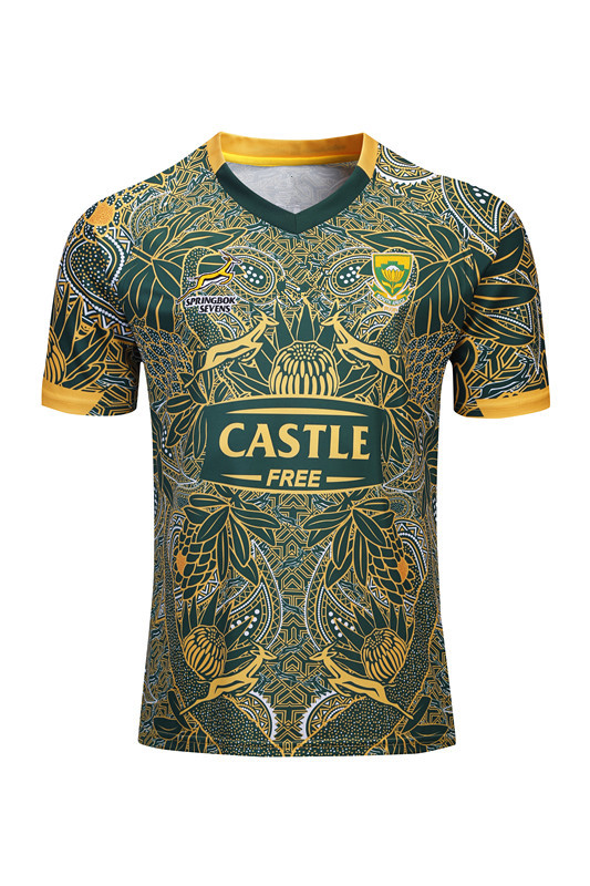19-20 Breathable South Africa 100 Anniversary Commemorative Edition Olive Jersey South Africa Rugby Jersey
