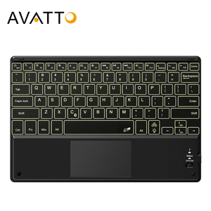 AVATTO 10.1 inch Ultra-thin LED Backlit Tablet Keyboard with Touchpad,Wireless Bluetooth Keyboard for Android,Windows,iOS Tablet