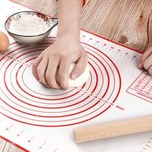 Tapete de silicona para hornear, máquina para hacer masa de Pizza, utensilios de cocina, herramientas de cocina, utensilios para hornear, lote de accesorios para amasar