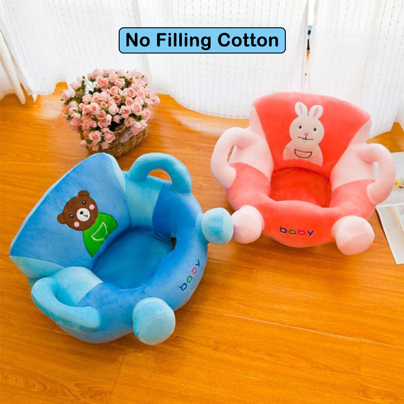 Baby Sofa Cover Kids Learning To Sit Chair Case Cartoon Anti-fall Seat Comfortable Baby Feeding Soft Sofa Cover Without Cotton