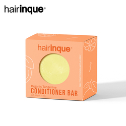 HAIRINQUE Organic hair tangerine conditioner bar handmade VITAMIN C moisturizing nourishing hair conditioner soap hair care