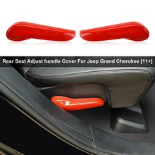 Untuk Jeep Grand Cherokee 2011-2020 Red Kursi Penyesuaian Menangani Switch Cover Trim(China)