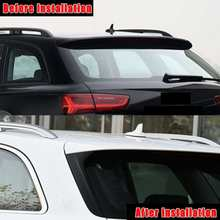 Rear Behind Window Spoiler Side Strip Cover Trim Exterior Refit Kit Fit For Audi A6 C7 Allroad TDI Quattro/for Avant 2012-2018