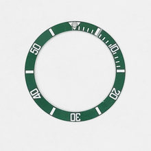 Preto/azul/verde masculino relógios substituir acessórios relógio de pulso rosto cerâmica moldura inserção para 40mm sub automático 38mm