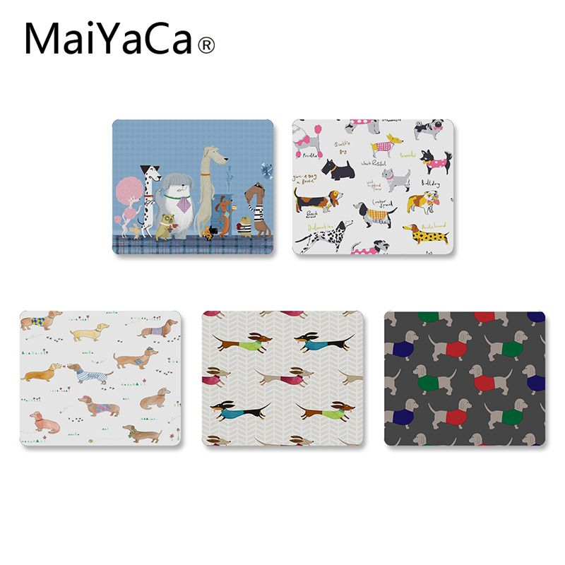 MaiYaCa Hot Sales Animals Dogs Dachshund Office Mice Rubber Mouse Pad DIY Design Gaming Mouse Pad Rug For PC Laptop Notebook