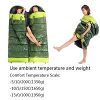 Outdoor Adult Envelope Type Camping Sleeping Bag Lightweight Portable Splicing Fleabag Zipper Thermal Travel equipment