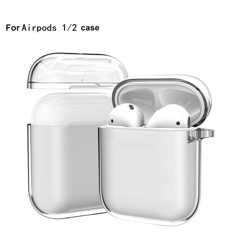 Transparent Cases For AirPods Cases Bluetooth Wireless Earphone Protective Cover For Airpods 2 1 PC Clear Hard Case Shell