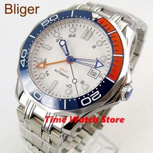 Bliger 41mm GMT 3804 automatic watch men waterproof stainles