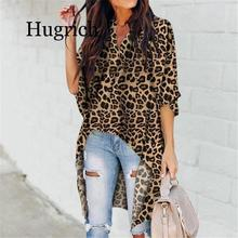 2020 Women Ladies Summer Leopard Print Chiffon Half Sleeve Casual Shirt Tops Blouse Women Blouse Top Femme Camisas Mujer