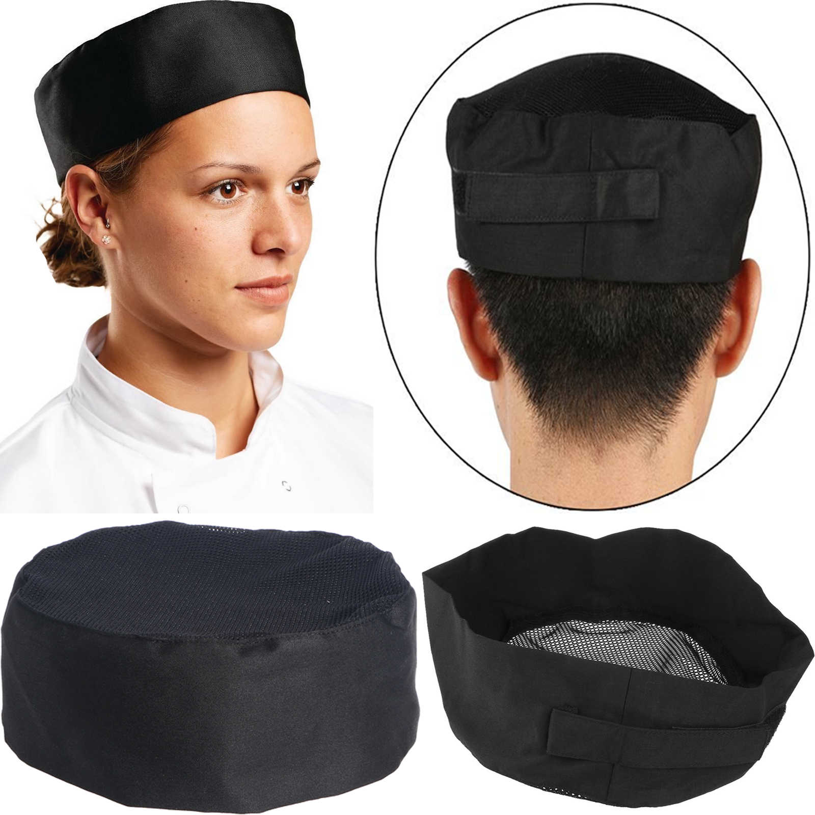 Chef Hat Adult Adjustable Baker Kitchen Cooking Chef Cap Chef Work Cap Pirate Chef Cap Kitchen Gadgets