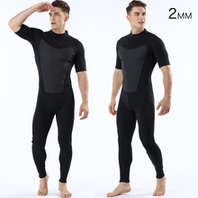 New Men 2mm Diving Neoprene Wetsuit man surf suit Short-sleeved pants diving Keep warm dry wetsuit for men