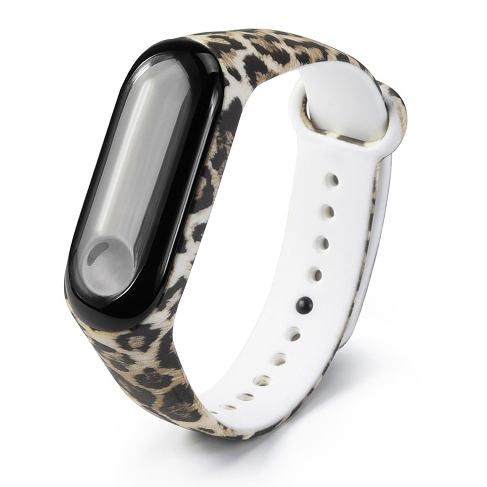 Yayuu Wrist Strap For Xiaomi Mi Band 4 3 Leopard Painted Pattern Silicone Sport Waterproof Smart Watch Band For Xiaomi Mi 3 4