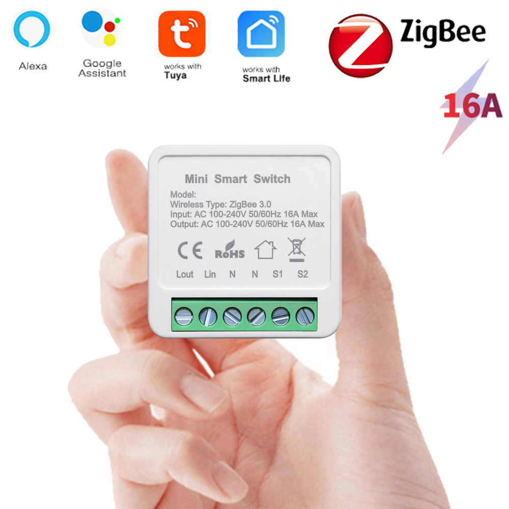 Tuya Smart ZigBee Switch Module Home Automation DIY Breaker Supports 2 Way Control Work with Alexa Google Home