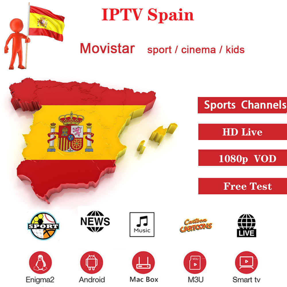 1 year Europe IPTV Spain M3U Subscription with all Spanish Channels for IPTV Smarters Smart TV Box Android IOS Smartphone