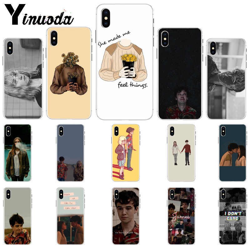 Yinuoda The end fing fxxxing world art TPU Soft Silicone Phone Case Cover for iPhone 6S 6plus 7 7plus 8 8Plus X Xs MAX 5 5S XR