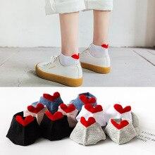 Women Socks Harajuku Ankle-Kawaii Slippers Girl Gift Heart Cotton Cartoon Casual Cute