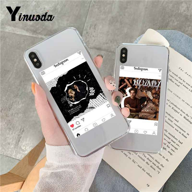 Yinuoda Riverdale Cole Sprouse Pattern TPU Soft Phone Accessories Cover Case for iPhone 8 7 6 6S Plus X 5 5S SE XR XS XSMAX