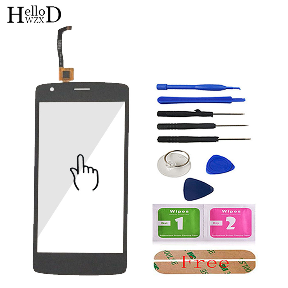 Touch Screen For Fly FS510 Nimbus 12 FS 510 Front Touch Screen Glass Digitizer Panel Sensor 5.0'' Mobile Phone Tools Adhesive