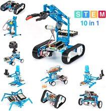 Makeblock DIY Ultimate Robot kiti üstün kalite 10 in 1 Robot saplı eğitim MegaPi Scratch 2.0 çocuklar için, yaş 14