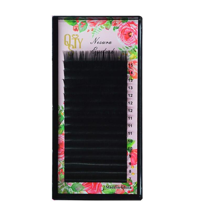 Mix Size 7 To 15 Mm 16 Lines High Quality Mink Synthetic Eyelash Single Natural Eyelashes Fake False Eye Lash Make Up