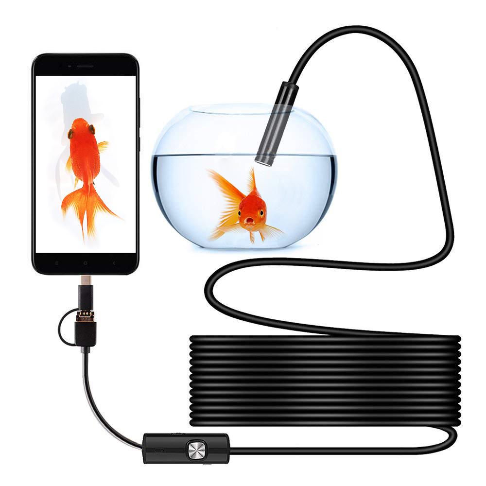1M/1.5M/2M/3.5M/5M Waterproof Mini Camera USB Endoscope Portable Universal Inspection Borescope Camera for Android Mobile Phone