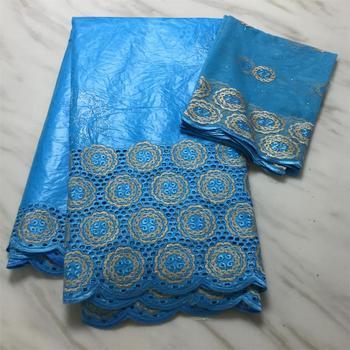 ¡Novedad de 2020! Tela bazin africana, Azul Real, estilo de moda, tejido bordado de encaje bazin con piedras, 7 yardas, bazin riche getzner