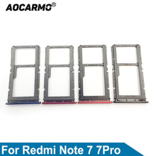 Aocarmo For XiaoMi Redmi Note 7 / 7 Pro 7pro Sim Card Tray MicroSD SD Slot Holder Replacement Part
