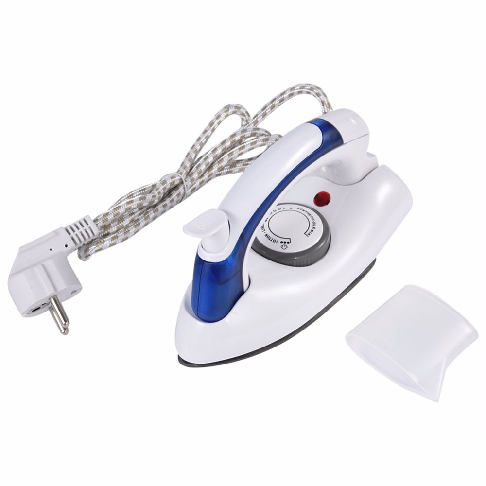 Hot Mini Portable Foldable Electric Steam Iron For Clothes With 3 Gears Teflon Baseplate Handheld Flatiron For Home Travelling