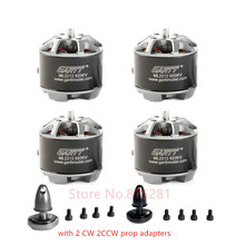 4PCS GARTT ML 2212 920KV 230W Brushless Motor for hexacopter with Self-Locking Adapter Quadcopter Drones F450 gartt ml 6011 130kv brushless motor for plant protection operations hexacopter octocopter multicopter