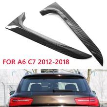 ด้านหลังปีก Lip สปอยเลอร์ฝาครอบสติกเกอร์ Trim สำหรับ Audi A6 C7 Allroad TDI Quattro 2012 2018รถยนต์อุปกรณ์