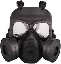 Тактическая защитная маска для страйкбола с двойным фильтром