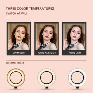Image 3 - Photography LED Ring Lamp Dimmable Selfie Ring Light with Tripod Phone Holder For Youtube Video Shooting Live Makeup Wedding