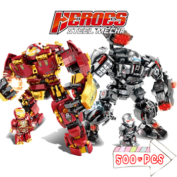 Iron Man Hulkbuster War Machine Building Blocks Bricks Sets Kit Super Heroes Avenger Superheroes Children Kids Toys Gifts single sale modok george tarleton from hulk lab smash set building blocks super heroes bricks action toys for children kf918