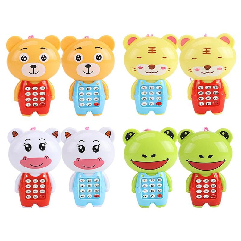 Baby Vocal Toys Cartoon Animal Mobile Phone Music Luminous Creative Children Educational Electronic Cellphone Gifts