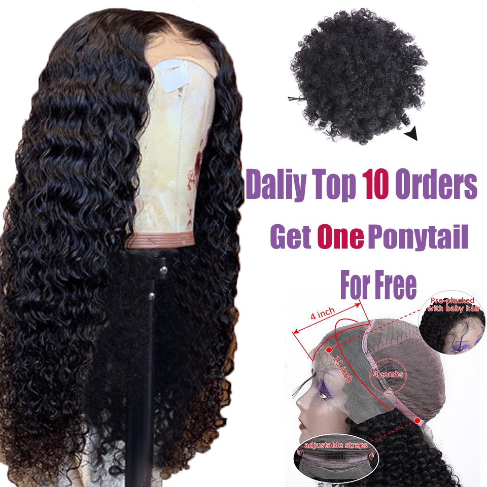Haever Lace Front Brazilian Deep Wave 360 Lace Frontal Wigs Pre Plucked With Baby Hair 180% Human Hair Wigs For Black Women