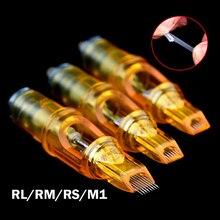 พลาสม่าปากกาเข็มสัก M1/RM/RS/RL เข็มคิ้ว TATTOO Gun อุปกรณ์ Disposable Semi ถาวรแต่งหน้าตลับหมึกสัก