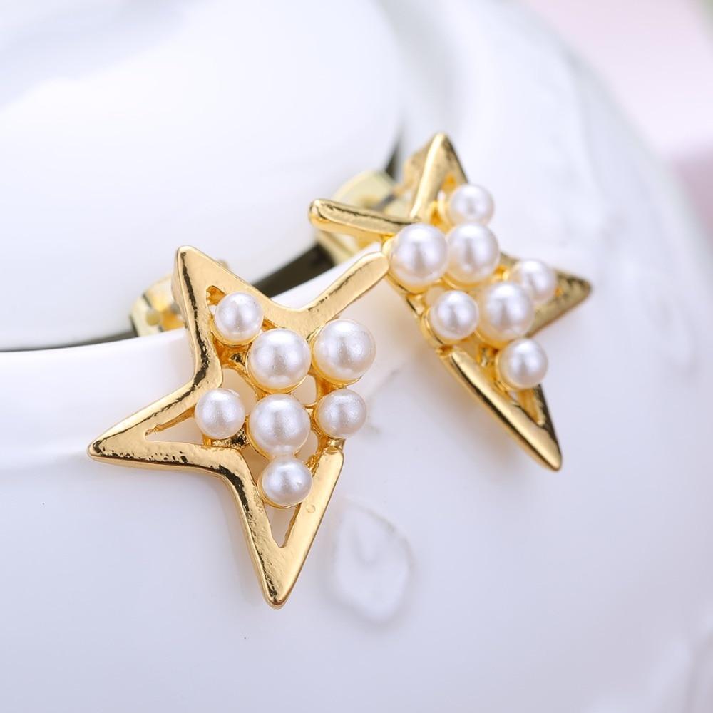 12 Pairs/set Stud Earrings Set With Card Transparent Zircon Balls Love Flowers Earrings Women Imulated Pearl Earrings Jewelry 105