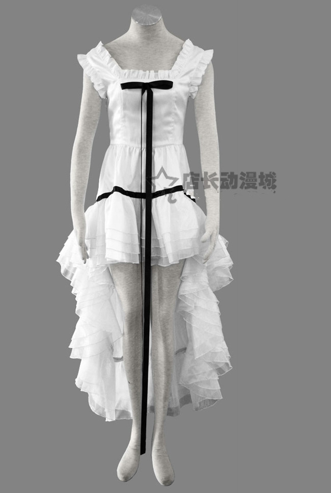 New Arrival Anime Chobits Chi Cosplay Costumes Sexy White Formal Dress Full Set Female Party Lolita Dress Custom-Make Any Size