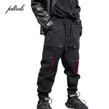 2019 New Hip-hop High Street Tide Male Jogging Sweatpants Splicing Big Pocket Loose Streetwear Pencil Pants Men Guo-Chao Tang guo chao tang 2019 new autumn irregularity color patchwork printed plaid men shirts hip hop casual ribbon male shirt streetwear