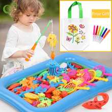 Interactive-Toys Pool-Water Game Kids Magnetic Fishing Baby Parent-Child 3d-Fish-1 Children's
