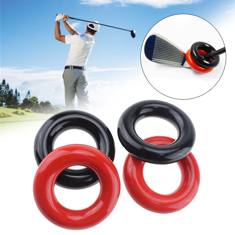 Practical 2 Color Plastic Trainging Aids Outdoor Golfing Weighted Ring Golf Augmenter Action Correction Device Golf Add Ring