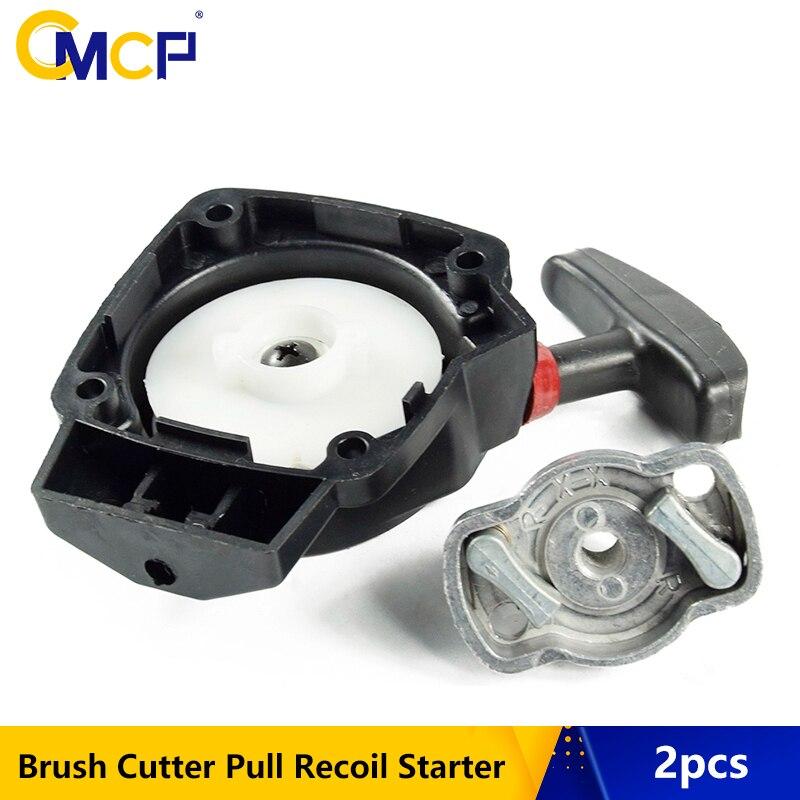 2 pçs cortador de escova puxar recoil starter apto 1e34f cortador de grama hedge trimmer starter cortador de grama peças